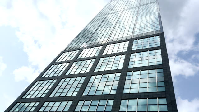 stockvideo's en b-roll-footage met skyscraper - time lapse - enkel object