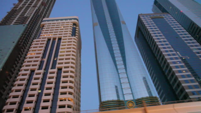 WS PAN POV Skyscrapers and apartment blocks / Dubai, United Arab Emirates