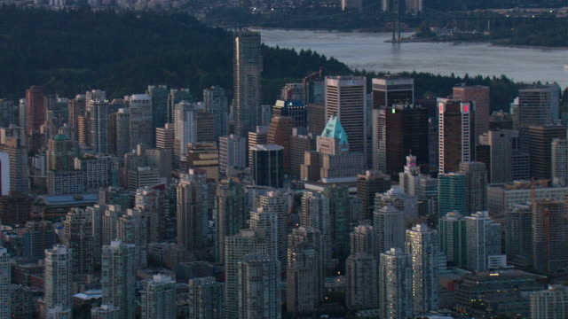 Skyscrapers and high-rises fill downtown Vancouver.