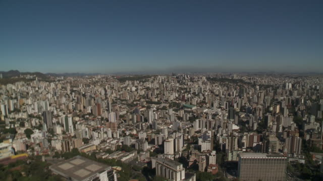 skyscrapers and office buildings dominate the city of belo horizonte, brazil. - belo horizonte stock videos and b-roll footage