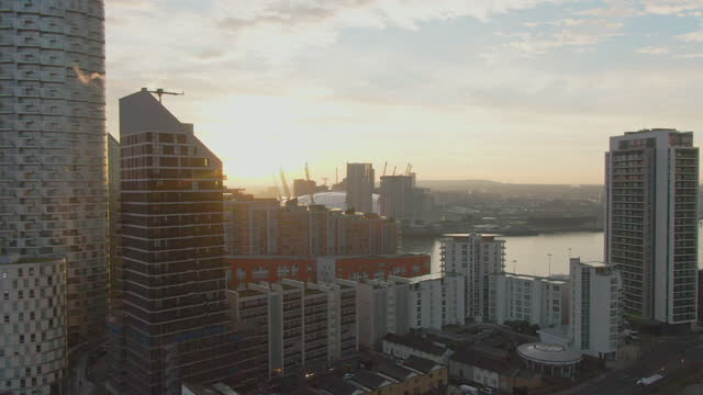skyscrapers at sunset, london, uk - europe stock videos & royalty-free footage