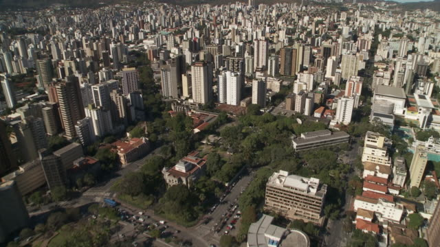 skyscrapers dominate the cityscape of belo horizonte, brazil. - belo horizonte stock videos and b-roll footage