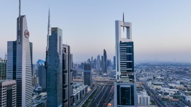 Skyscrapers, Dubai, Time Lapse