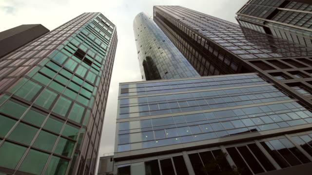 skyscrapers in frankfurt, time lasse - frankfurt stock exchange stock videos and b-roll footage