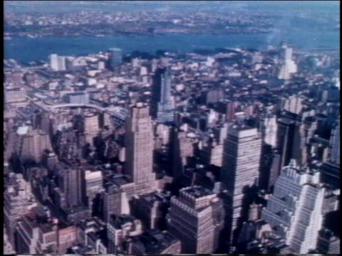 1962 ha skyscrapers in manhattan / new york, new york, united states - 1962年点の映像素材/bロール