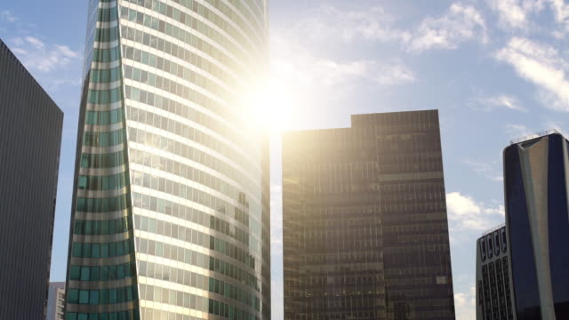 skyscrapers in paris la defense - ward stock videos & royalty-free footage