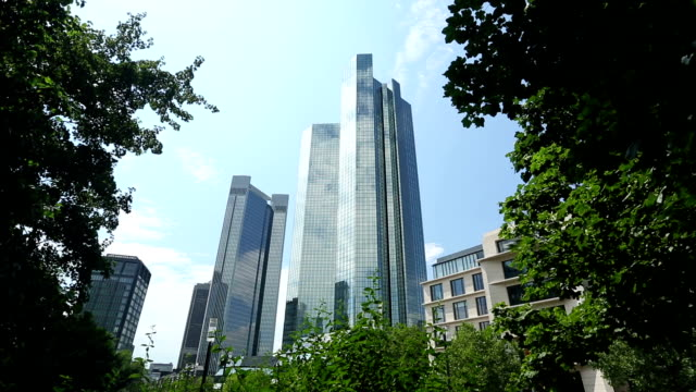 Skyscrapers in the financial district of Frankfurt