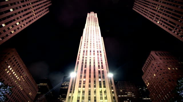 grattacieli, new york city - rockefeller center video stock e b–roll