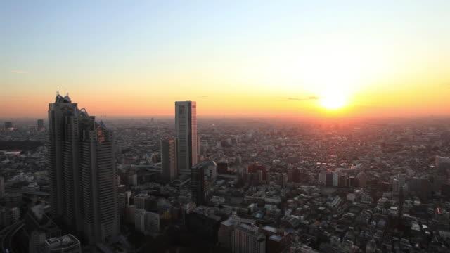 WS T/L Skyscrapers of city / Shinjyuku, Tokyo, Japan