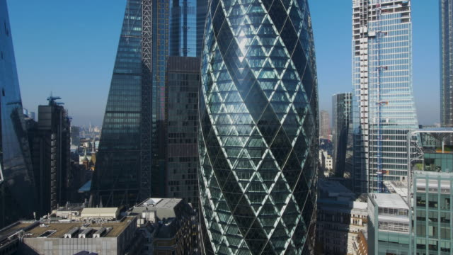 skyscrapers of london's financial district. - brexit stock videos & royalty-free footage