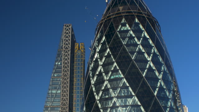 Skyscrapers of London's Financial District.