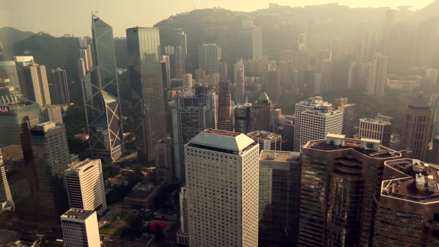 ws ha skyscrapers on hong kong island  - hong kong island stock videos & royalty-free footage