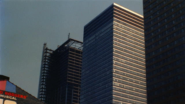 1958 ms la skyscrapers, one under construction, new york city, new york, usa - 1958 stock videos & royalty-free footage