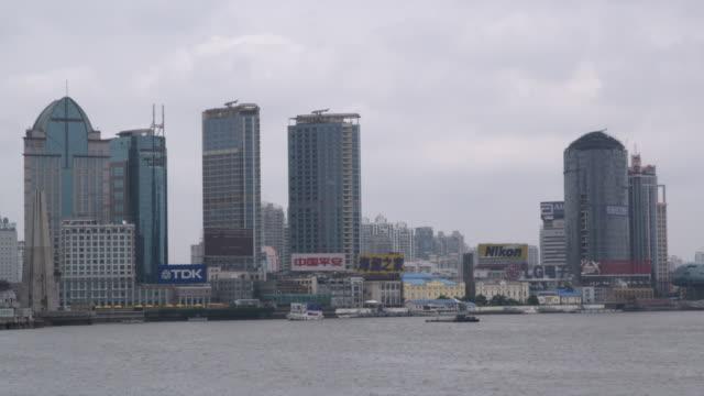 WS Skyscrapers seen across Huangpu River / Shanghai, China