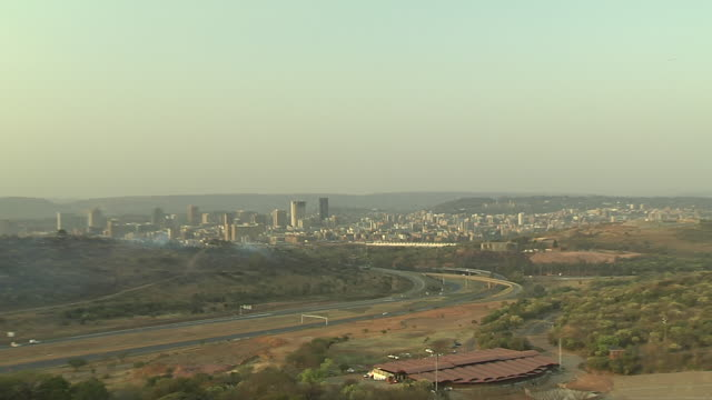 skyscrapers tower in the city of pretoria, south africa. available in hd. - pretoria stock videos & royalty-free footage