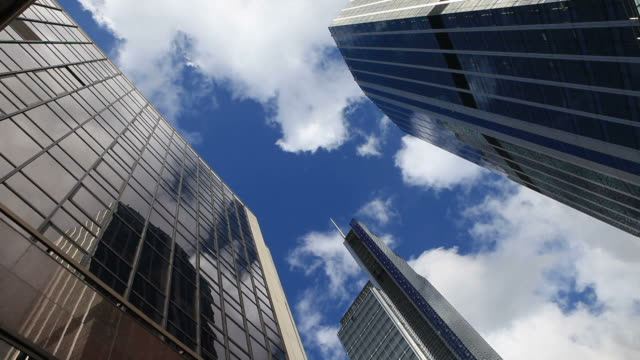 skyscrapers - low angle view stock videos & royalty-free footage