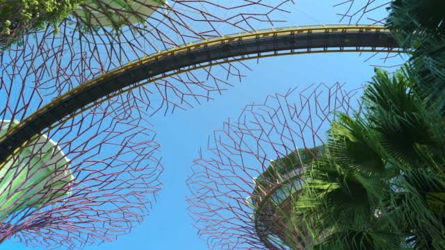 ocbc skyway in supertree grove singapore - singapore stock videos & royalty-free footage
