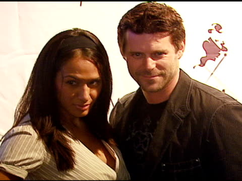 slade smiley and guest at the 'dressed to kilt' arrivals presented by johnnie walker at smashbox studios in los angeles california on october 14 2006 - dressed to kilt stock videos & royalty-free footage