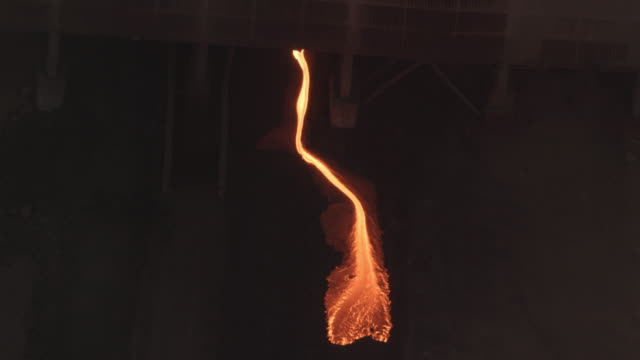 Slag pour at a mine in Rustenburg, South Africa