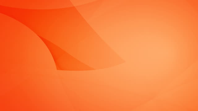 slanted, angled and rounded and curved abstract orange geometric shapes, circles meshing each other and floating around loop able seamless 4k background video - plain stock videos & royalty-free footage