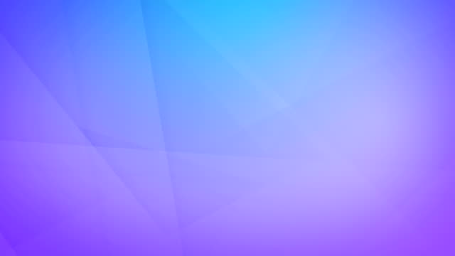 slanted, angled and sharp cornered abstract gradient, blue to purple colored geometric shapes, rectangles, triangles, squares meshing each other and floating around loop able seamless 4k background video - shape stock videos & royalty-free footage