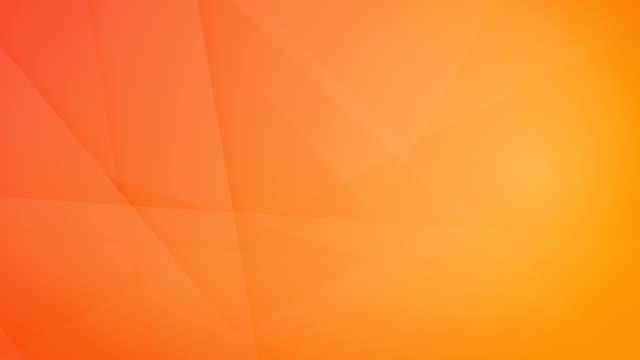 vídeos de stock, filmes e b-roll de inclinou-se, angular e afiada curvas geométricas abstratas alaranjadas, retângulos, triângulos, quadrados que gerar malhas uns aos outros e flutuando em torno de loop capaz de vídeo de fundo 4k sem costura - articulação facetária