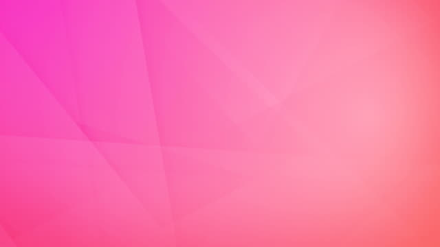 vídeos de stock e filmes b-roll de slanted, angled and sharp cornered abstract pink geometric shapes, rectangles, triangles, squares meshing each other and floating around loop able seamless 4k background video - cor de rosa