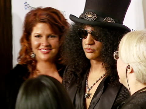 Slash at the Legendary Clive Davis PreGrammy Party at Beverly Hills California