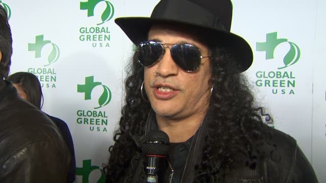 Slash on being a part of the night supporting Global Green growing their own food at the Global Green USA's 7th Annual PreOscar Party at Hollywood CA