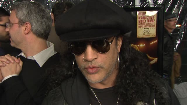 Slash on contributing to the soundtrack his inspiration message of the film at the 'The Wrestler' Premiere at Los Angeles CA