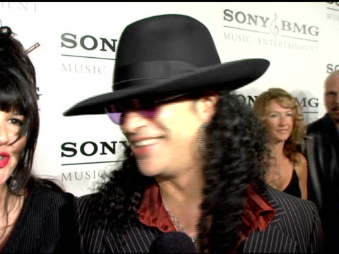 Slash on Velvet Revolver's plans at the Sony / BMG Grammy Awards Party at the Roosevelt Hotel in Hollywood California on February 13 2005