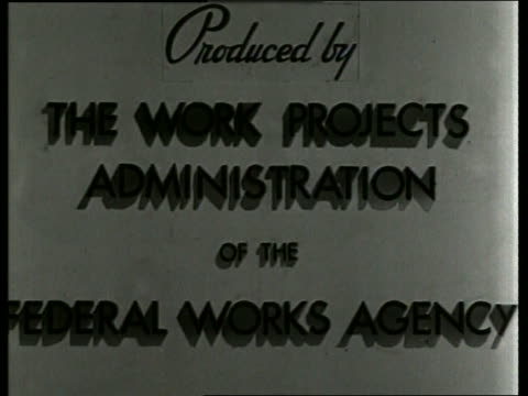 produced by the work projects administration... / sound - western script stock videos & royalty-free footage