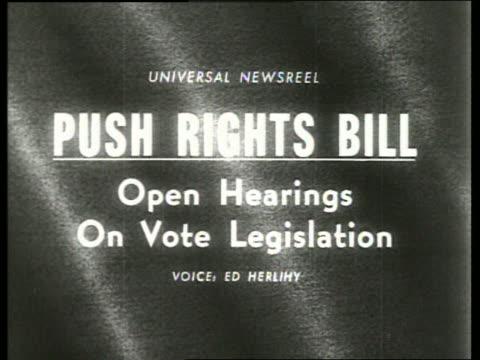 Push Rights Bill Open Hearings on Vote Legislation / SOUND