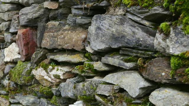 Slate stone wall in vineyard, Berkastel-Kues, Moselle Valley, Germany