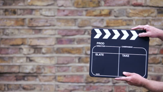 slate - film director stock videos and b-roll footage