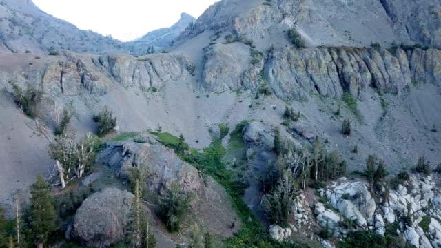 slate-grey mountain pass in california wilderness - californian sierra nevada stock videos & royalty-free footage