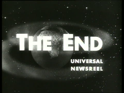 "slate-""the end"" / 1960's / sound - the end stock videos & royalty-free footage"