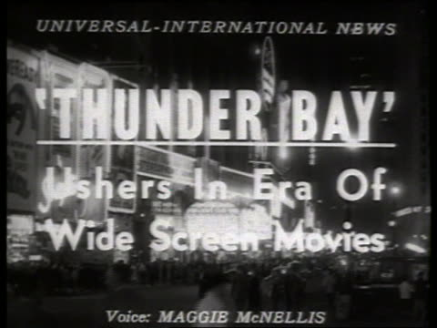 slatethunder bay / 1950's / no sound - anno 1954 video stock e b–roll