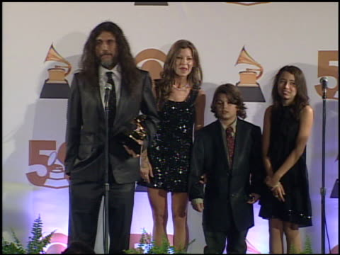 slayer at the 2008 grammy awards press room at staples center in los angeles california on february 10 2008 - raw footage stock videos & royalty-free footage