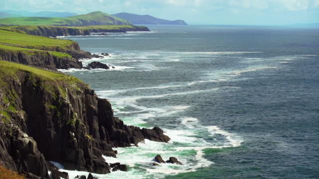 slea head coastline on dingle peninsula to the east - rocky coastline stock videos & royalty-free footage