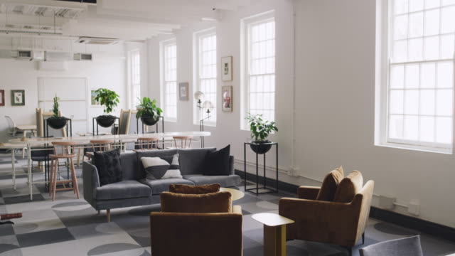 a sleek and modern workplace - lobby stock videos & royalty-free footage
