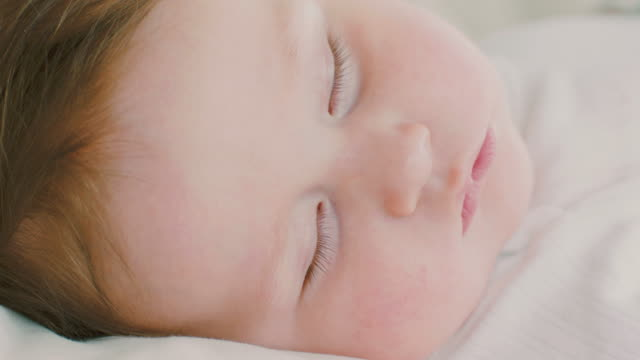 sleeping baby - one baby boy only stock videos & royalty-free footage
