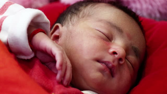 sleeping baby - one baby girl only stock videos & royalty-free footage