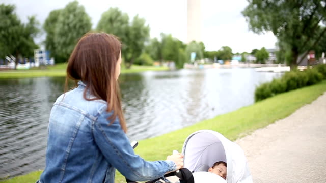 sleeping baby - pushchair stock videos and b-roll footage