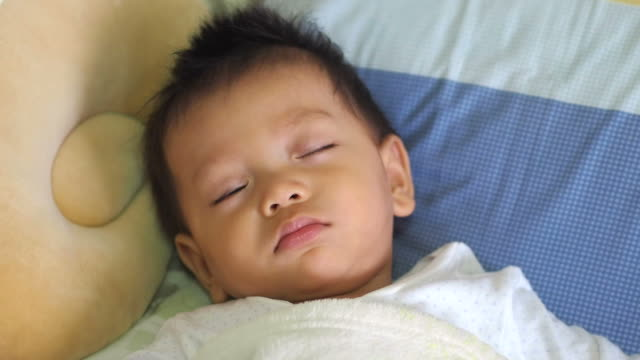 sleeping baby - cot stock videos & royalty-free footage