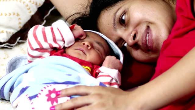 sleeping baby with her mother - baby boys stock videos & royalty-free footage