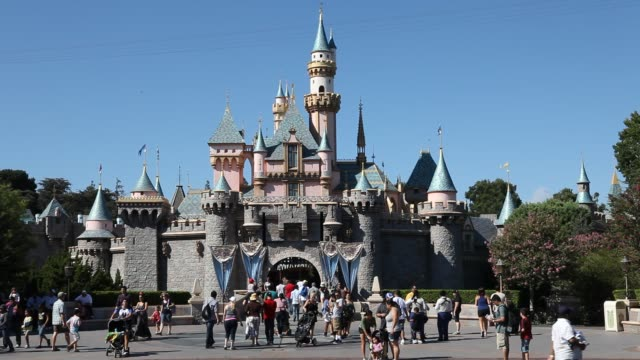 september 02: sleeping beauty castle in the entertainment resort disneyland in anaheim, california in the united states, operated by the walt disney... - anaheim california stock videos & royalty-free footage