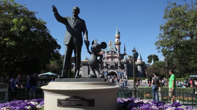 sleeping beauty castle in the entertainment resort disneyland in anaheim california in the united states operated by the walt disney company - anaheim california stock videos & royalty-free footage