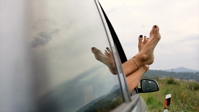 sleeping in the car on the road,human legs - limousine stock videos & royalty-free footage