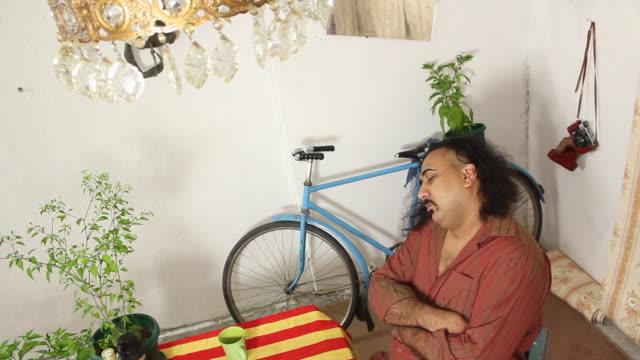 sleeping man - snoring stock videos and b-roll footage